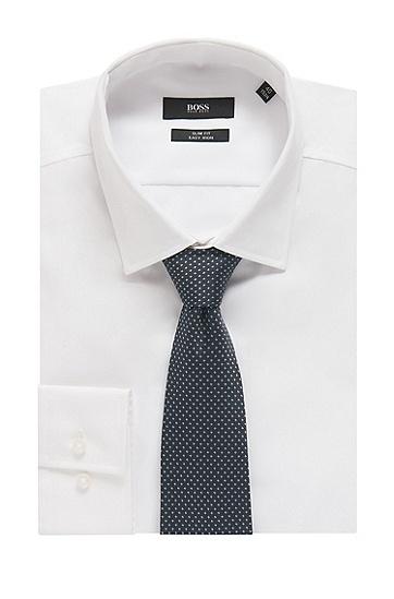 男士时尚商务格纹刺绣桑蚕丝领带,  470_淡蓝色