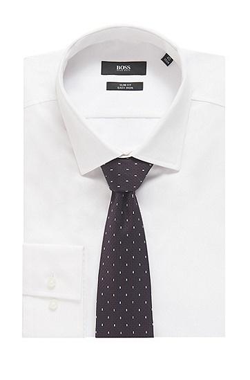 男士时尚商务桑蚕丝波点印花领带,  610_中红色