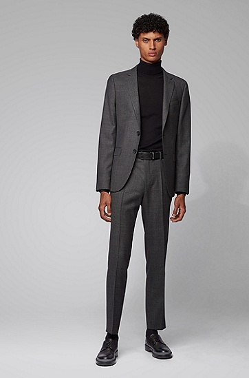 男士商务休闲双扣头皮带腰带,  001_黑色