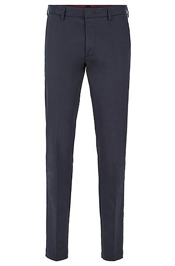 男士意大利弹力面料修身裤,  402_暗蓝色