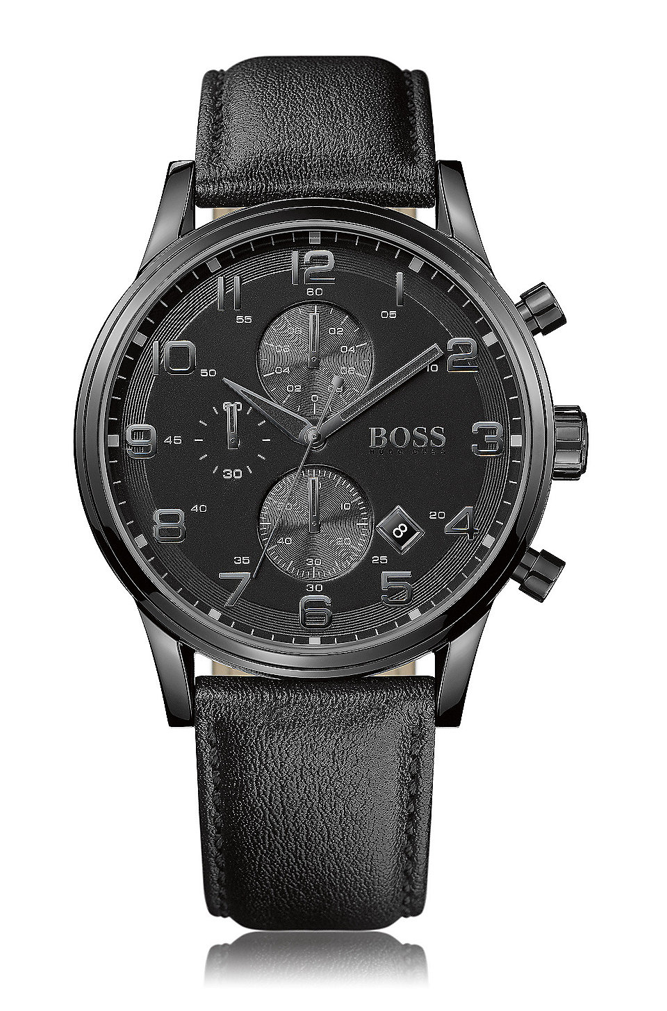 hugo boss classic watch collection for men blackened