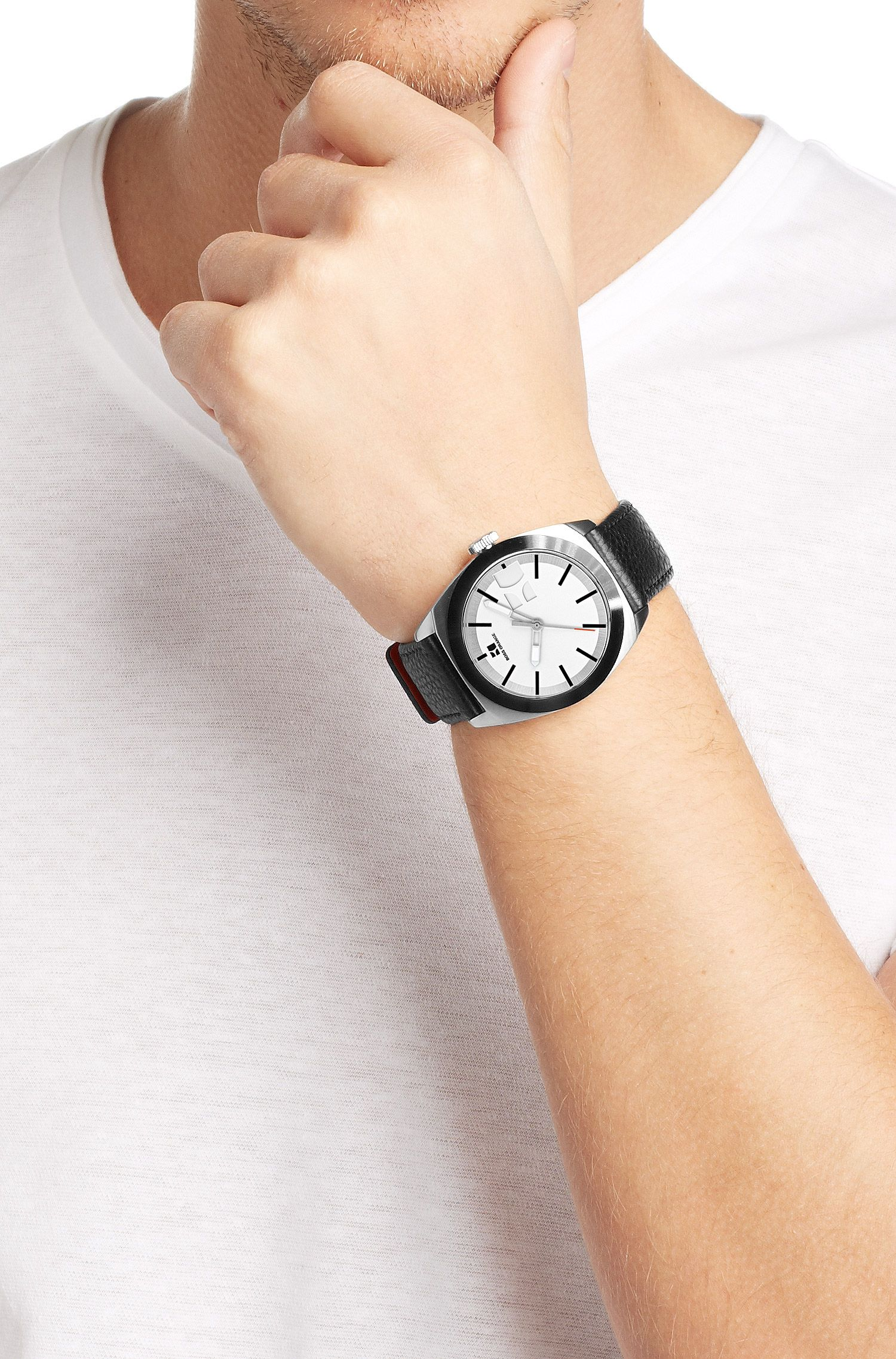 Montre-bracelet «HO300» avec boîtier en acier inoxydable