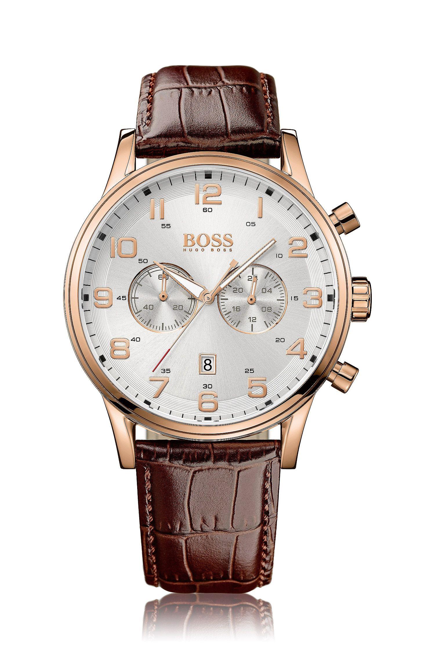 Chronographe «HB6014» avec bracelet en cuir