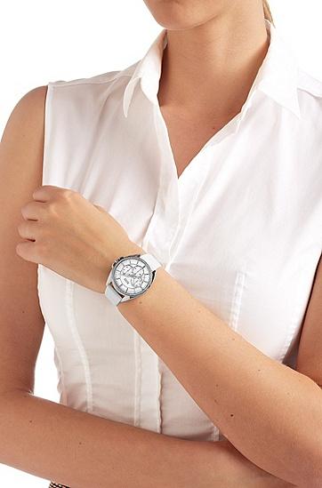 Armbanduhr ´HB6037`, Lederarmband in Kroko-Optik, Assorted-Pre-Pack