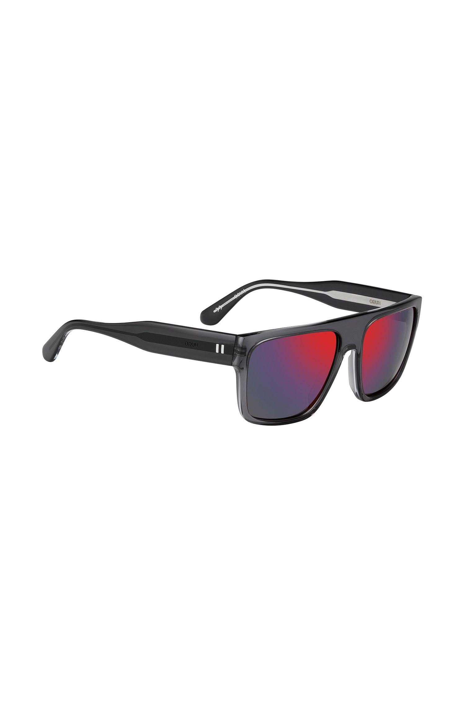 Angular sunglasses with mirrored lenses: 'HUGO 0122/S'