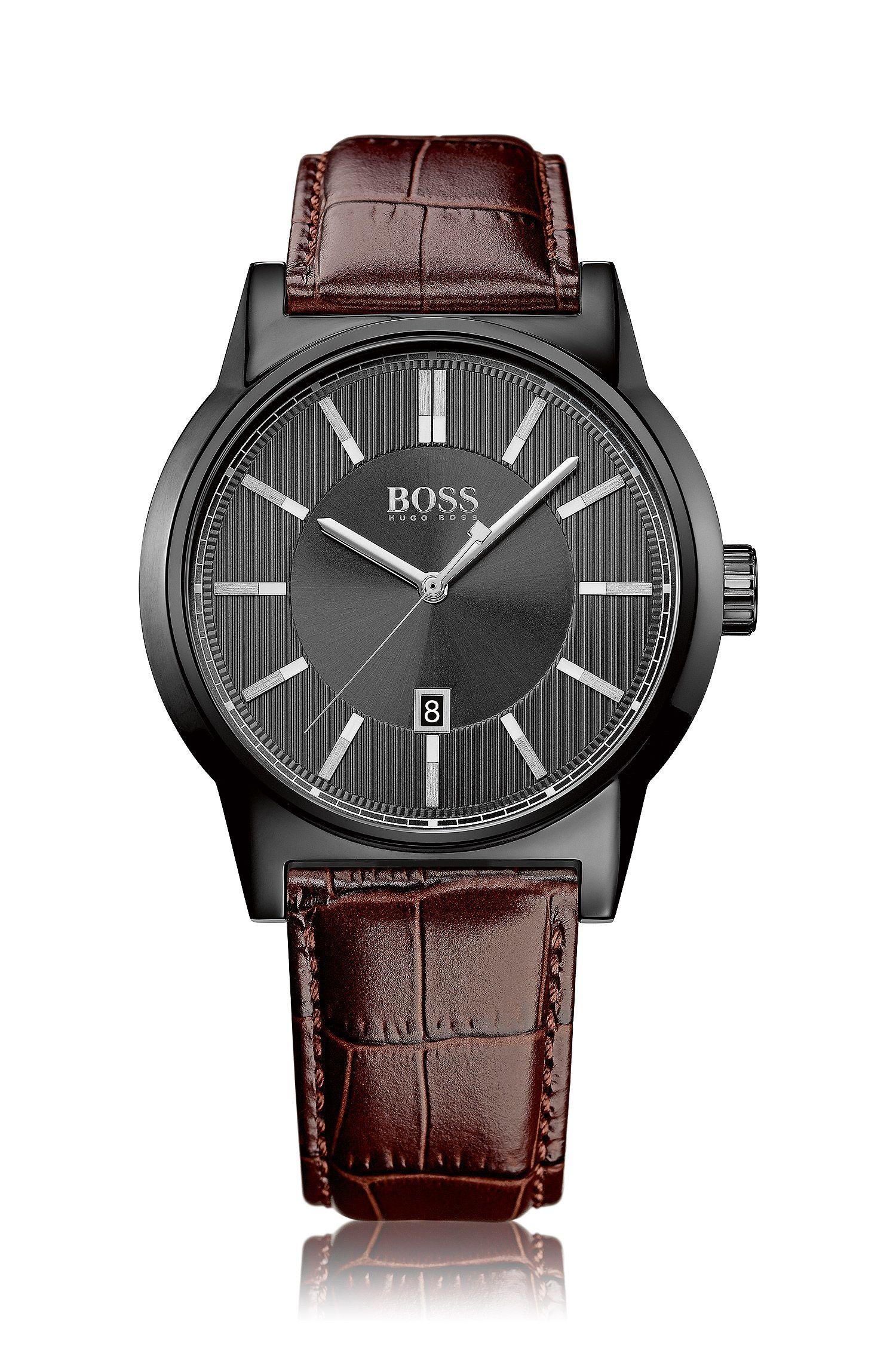 Montre-bracelet «HB6000» avec boîtier en acier inoxydable