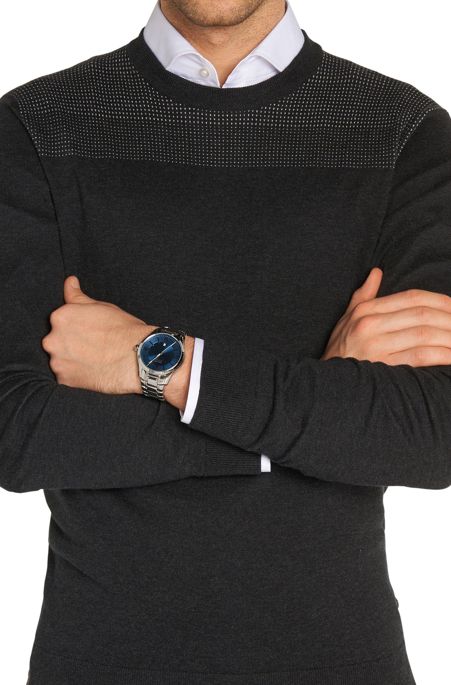 Armbanduhr aus Edelstahl mit zentraler Sekunde: 'HB2251'