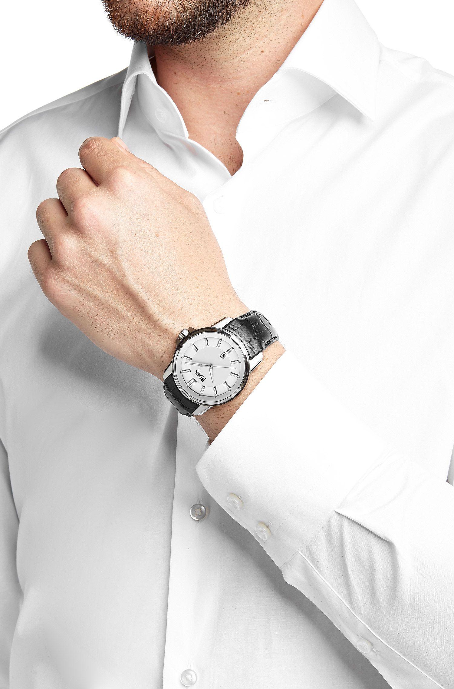 Armbanduhr ´HB6040` mit weißem Zifferblatt