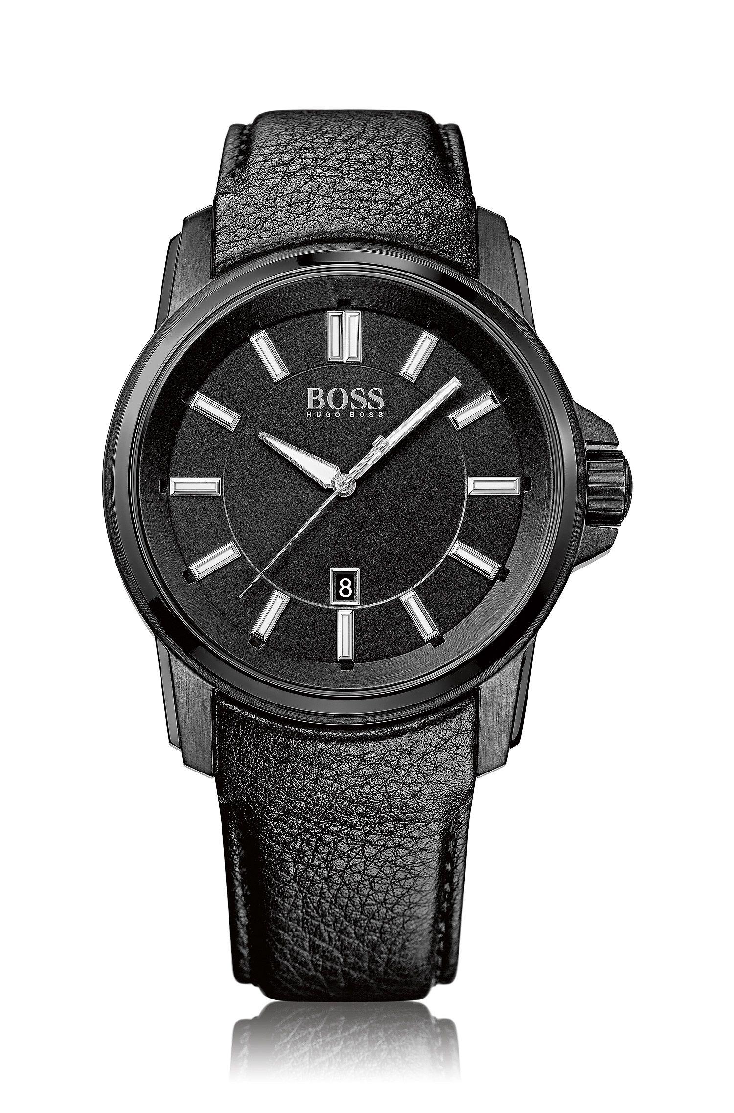 Armbanduhr ´HB6040` in schwarzem Dessin