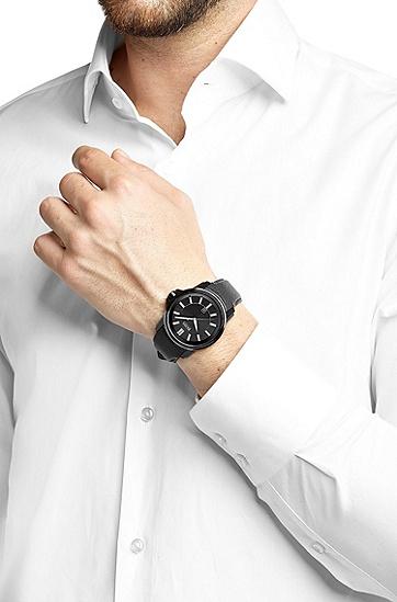 Armbanduhr ´HB6040` in schwarzem Dessin, Assorted-Pre-Pack