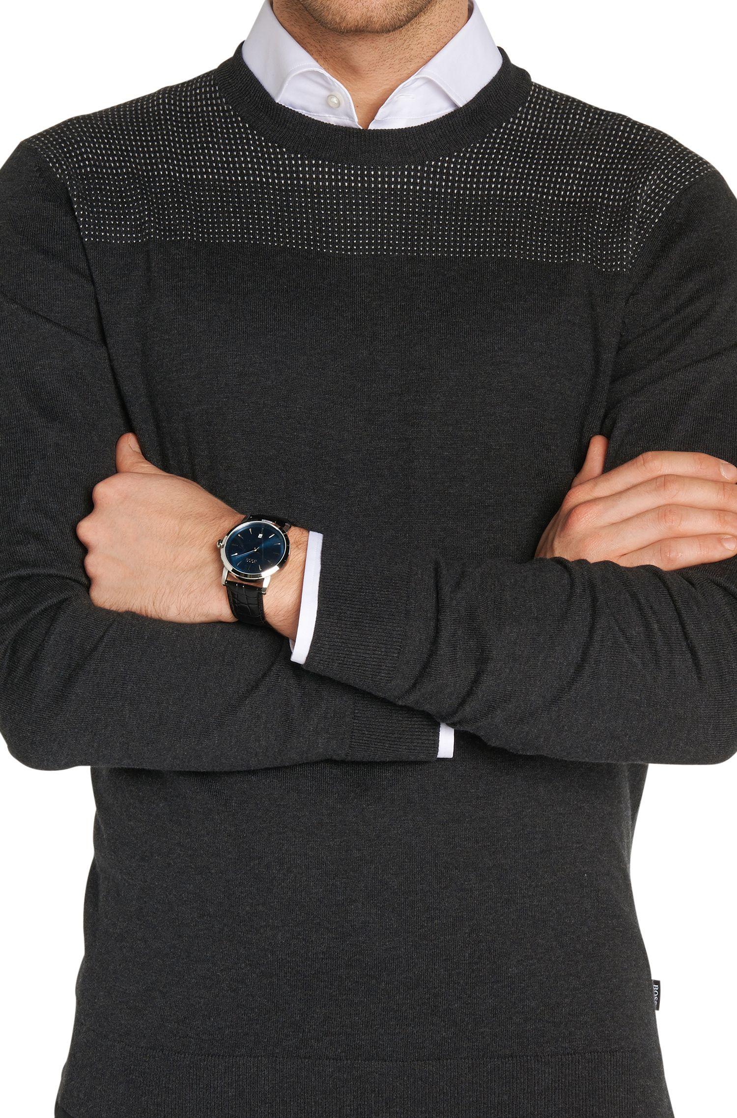 Montre-bracelet «HB1013» avec cadran bleu