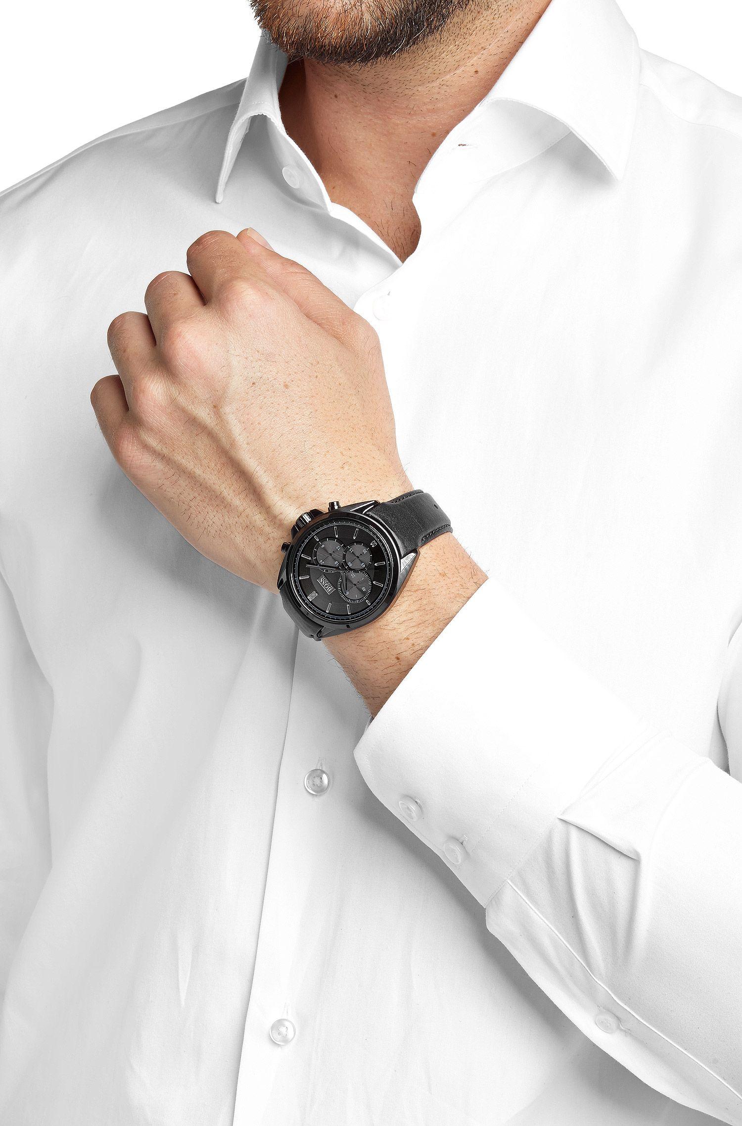 Chronograph ´HB301` in schwarz-grauem Dessin