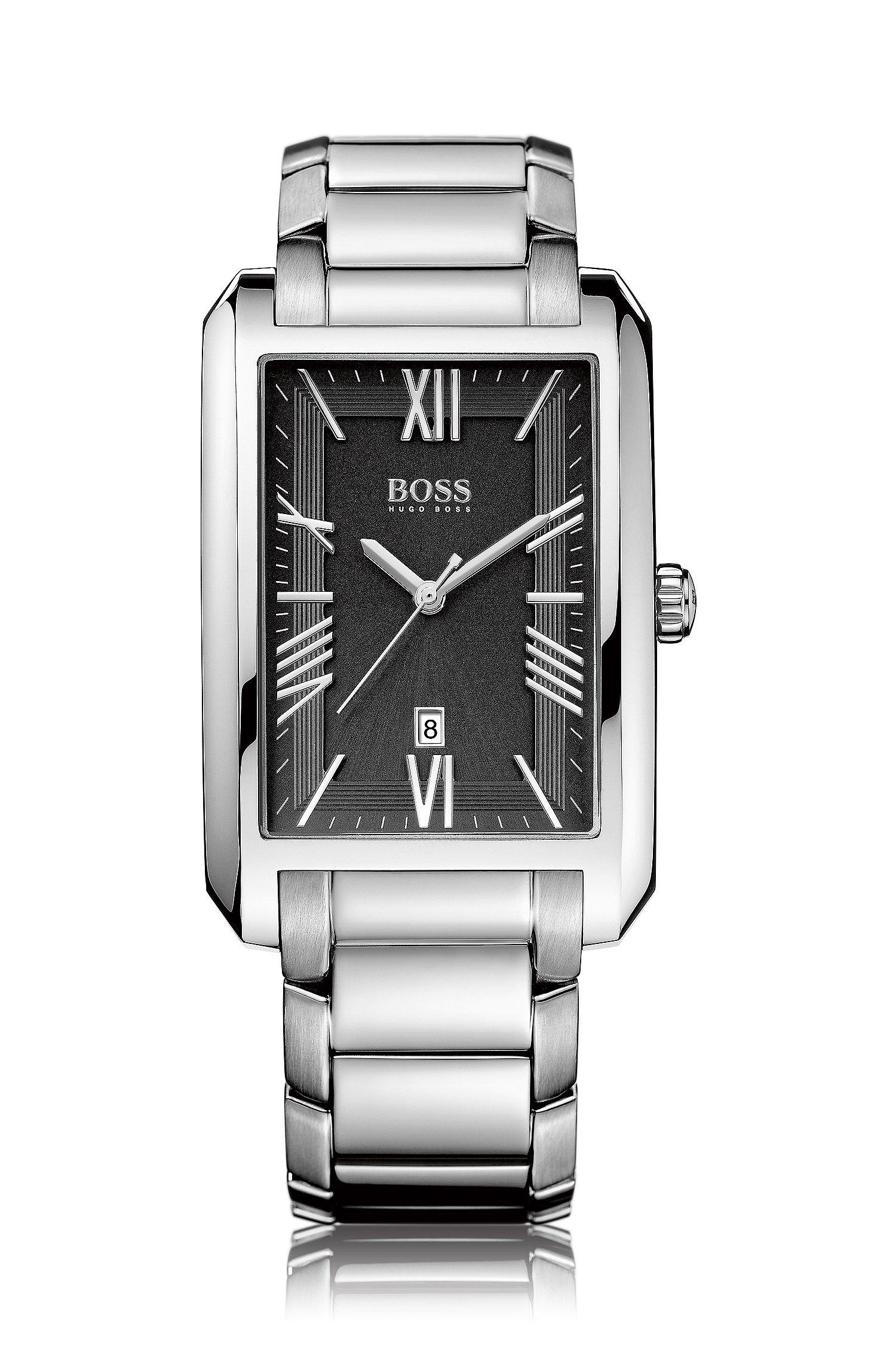 Montre-bracelet «HB6039» avec boîtier en acier inoxydable