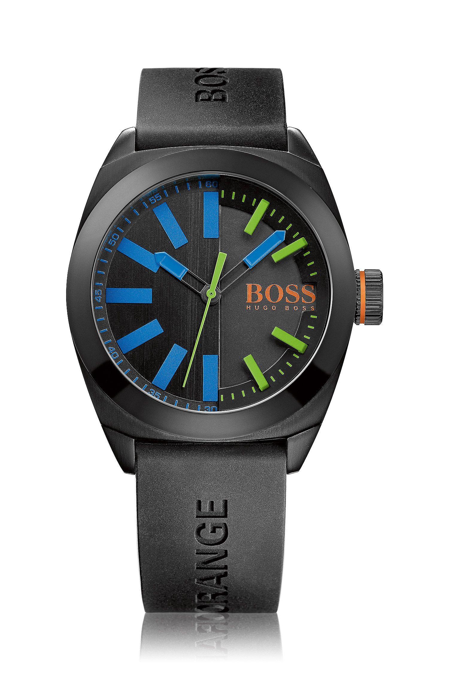 Armbanduhr mit geschwärztem Edelstahlgehäuse: 'HB1851'
