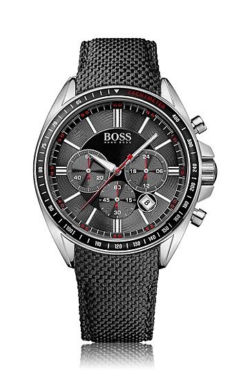 特殊质感纤维表带不锈钢表壳计时表'HB6042',  999_实物颜色