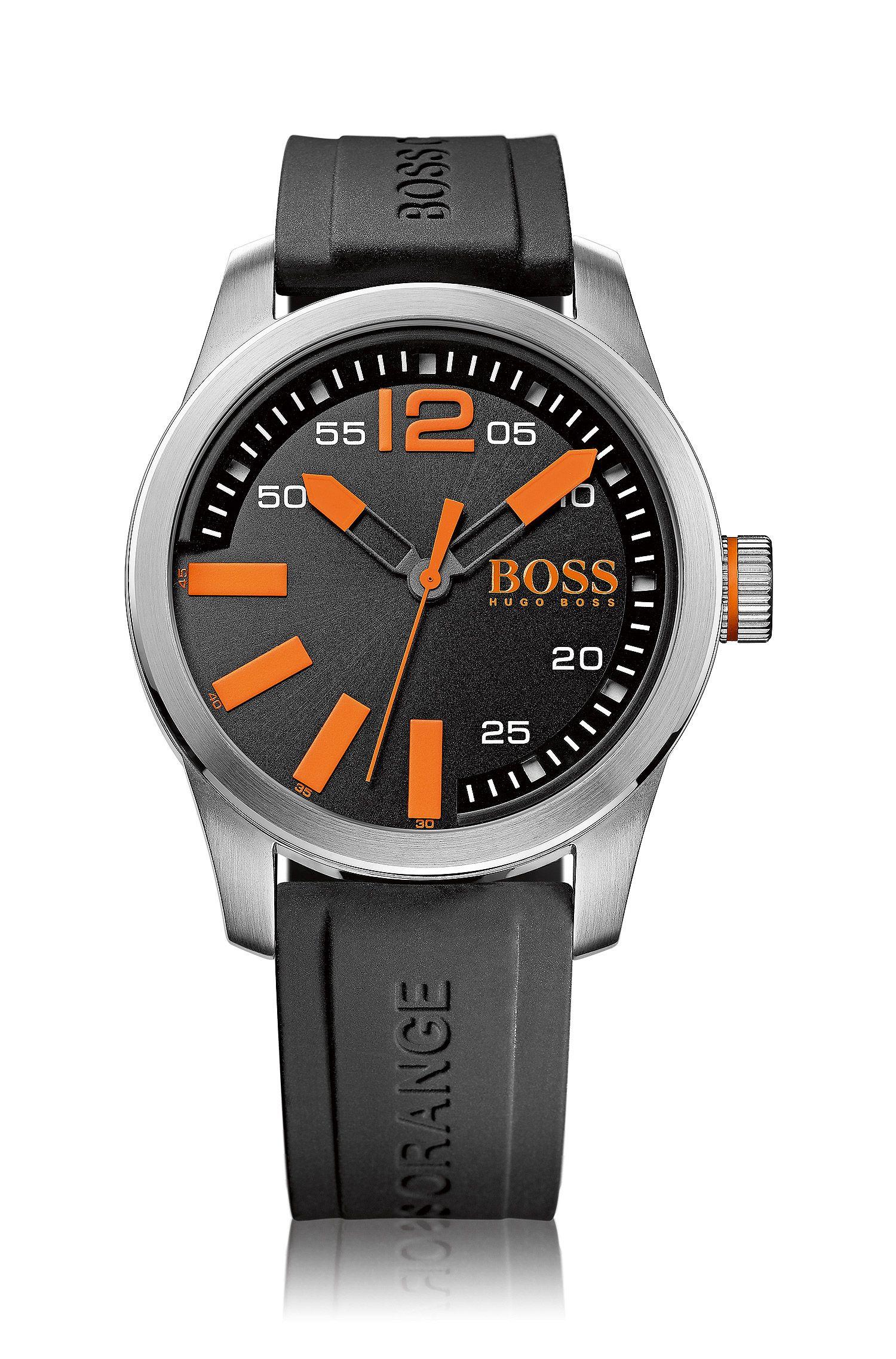 Montre-bracelet avec boîtier en acier inoxydable et affichage central des secondes: «HB2071»