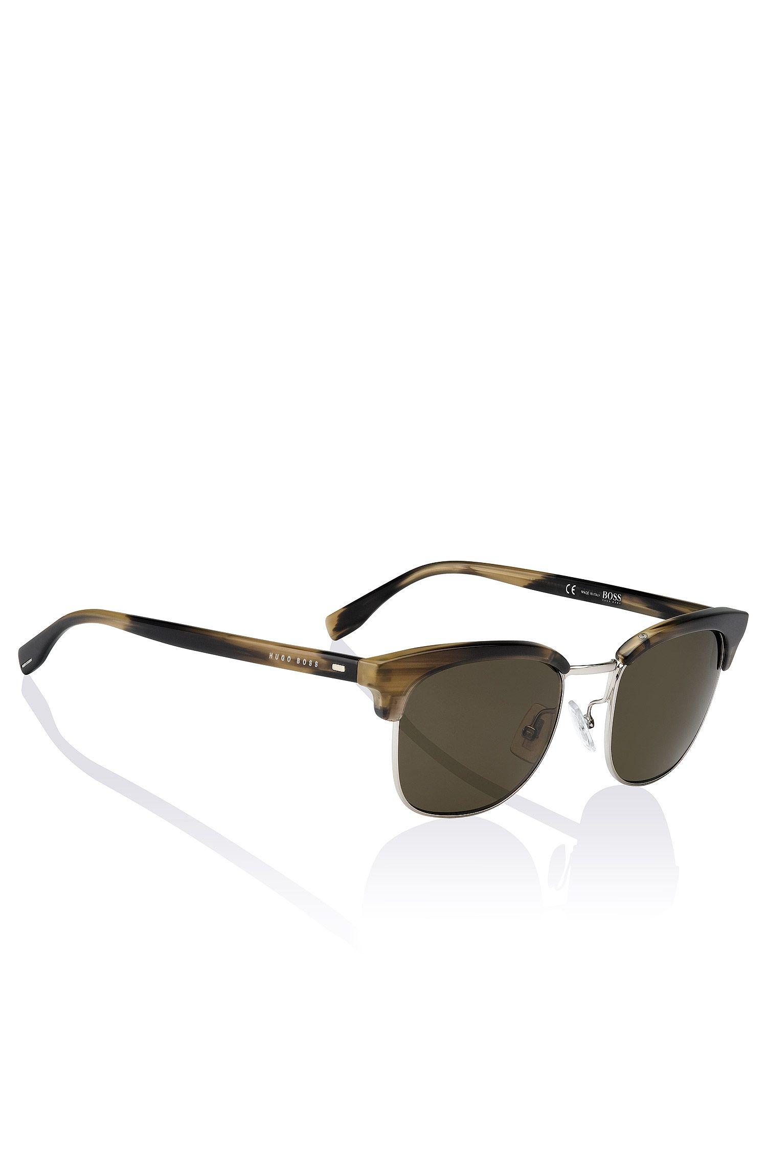 Clubmaster Sonnenbrille ´BOSS 0667` aus Kunststoff und Metall
