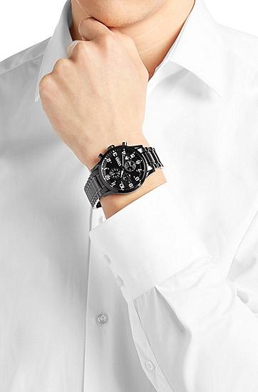 Chronograph ´HBAERIR`  mit schwarzem Edelstahlgehäuse, Assorted-Pre-Pack