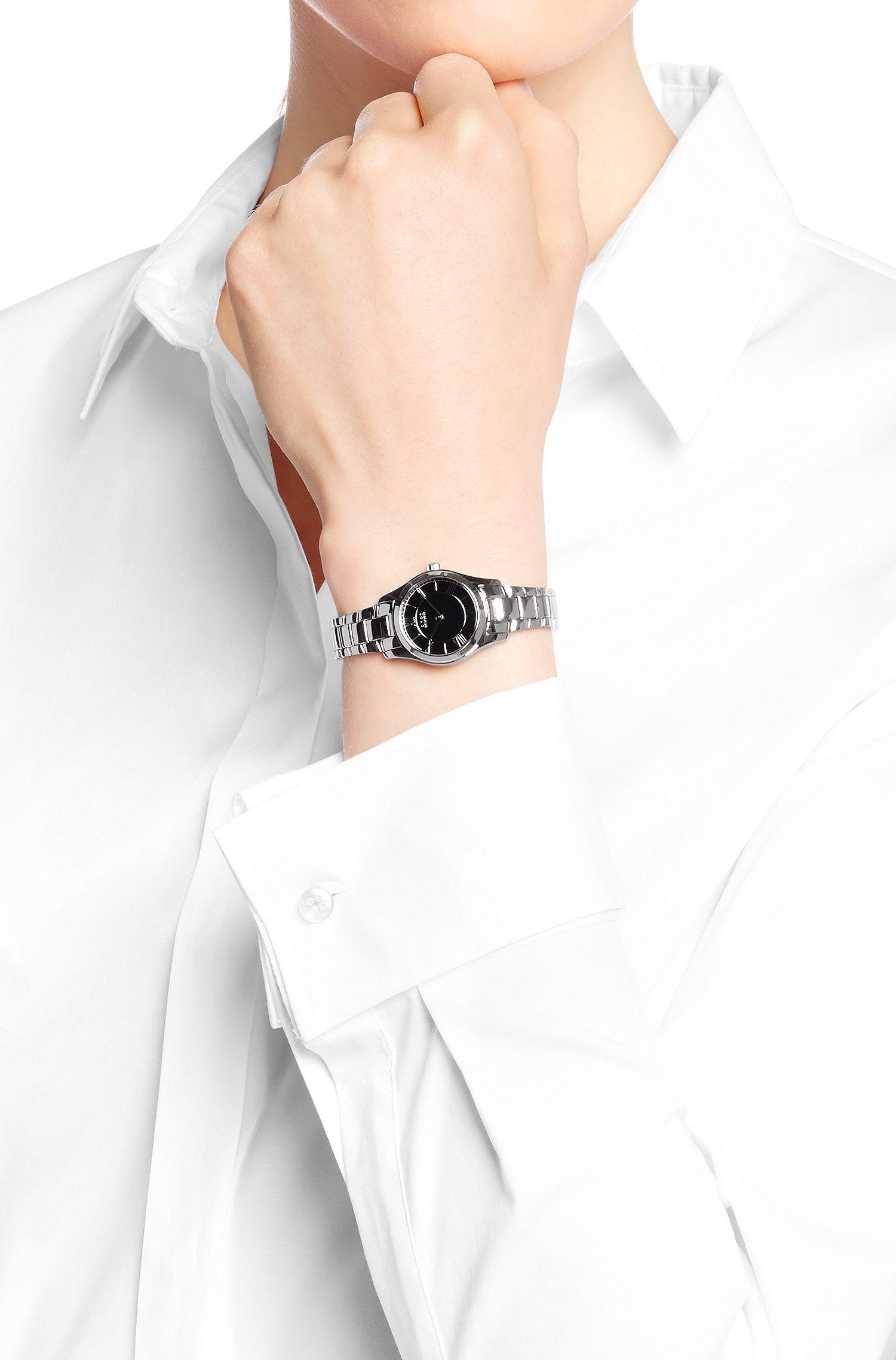 Montre-bracelet «HBAMBRL» en acier inox brillant