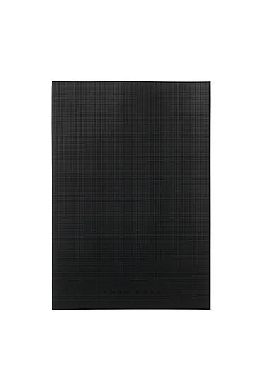 A4 Notizbuch: 'Grid Soft', Schwarz