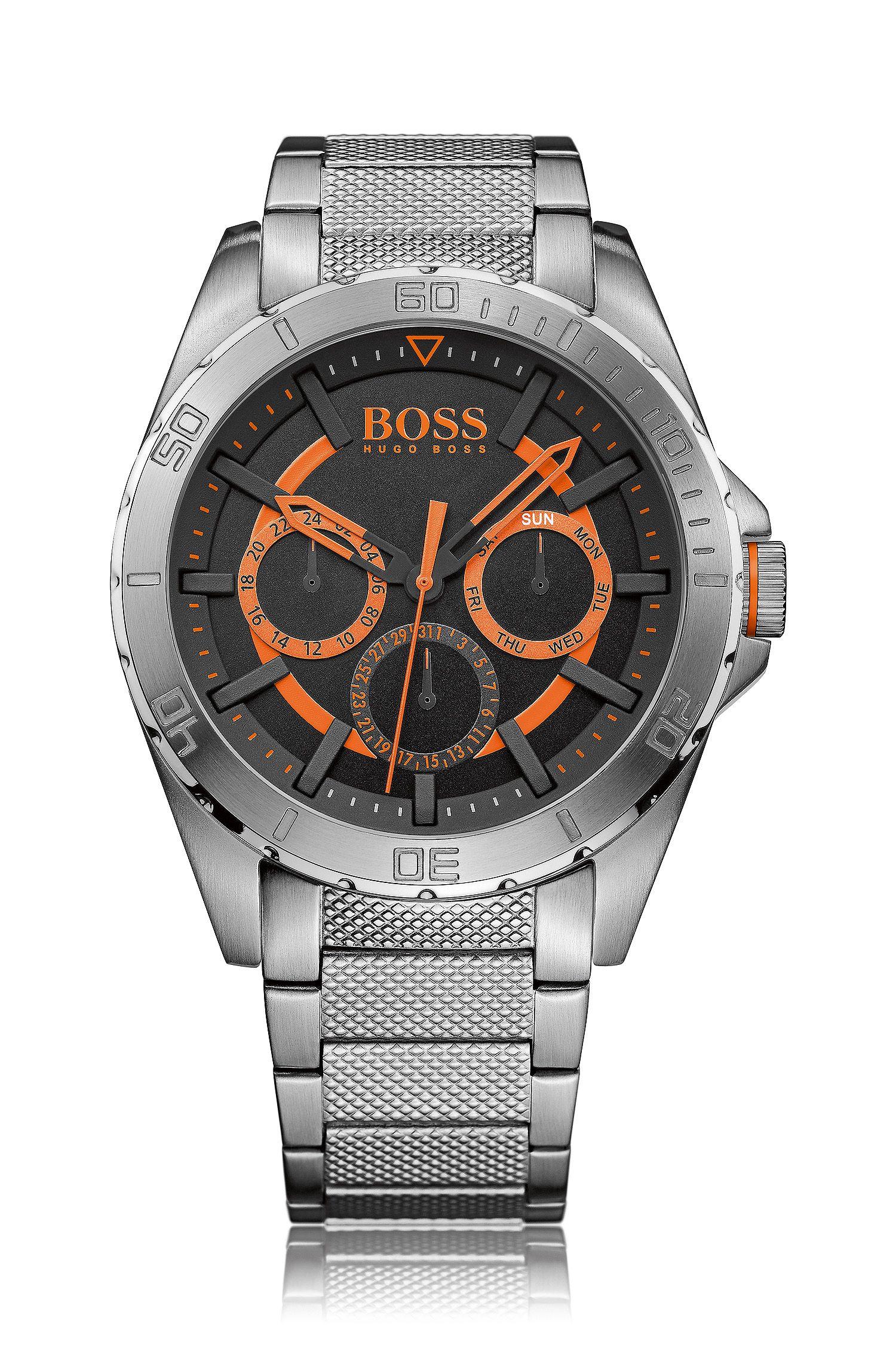 Multi-eye-horloge van roestvrij staal met tachymeter: 'HB2401'