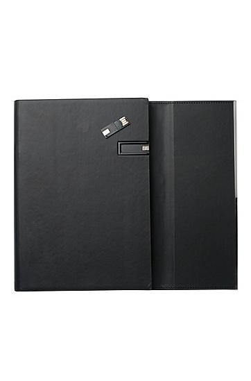 Mappe mit USB-Stick: 'Loop Black', Schwarz