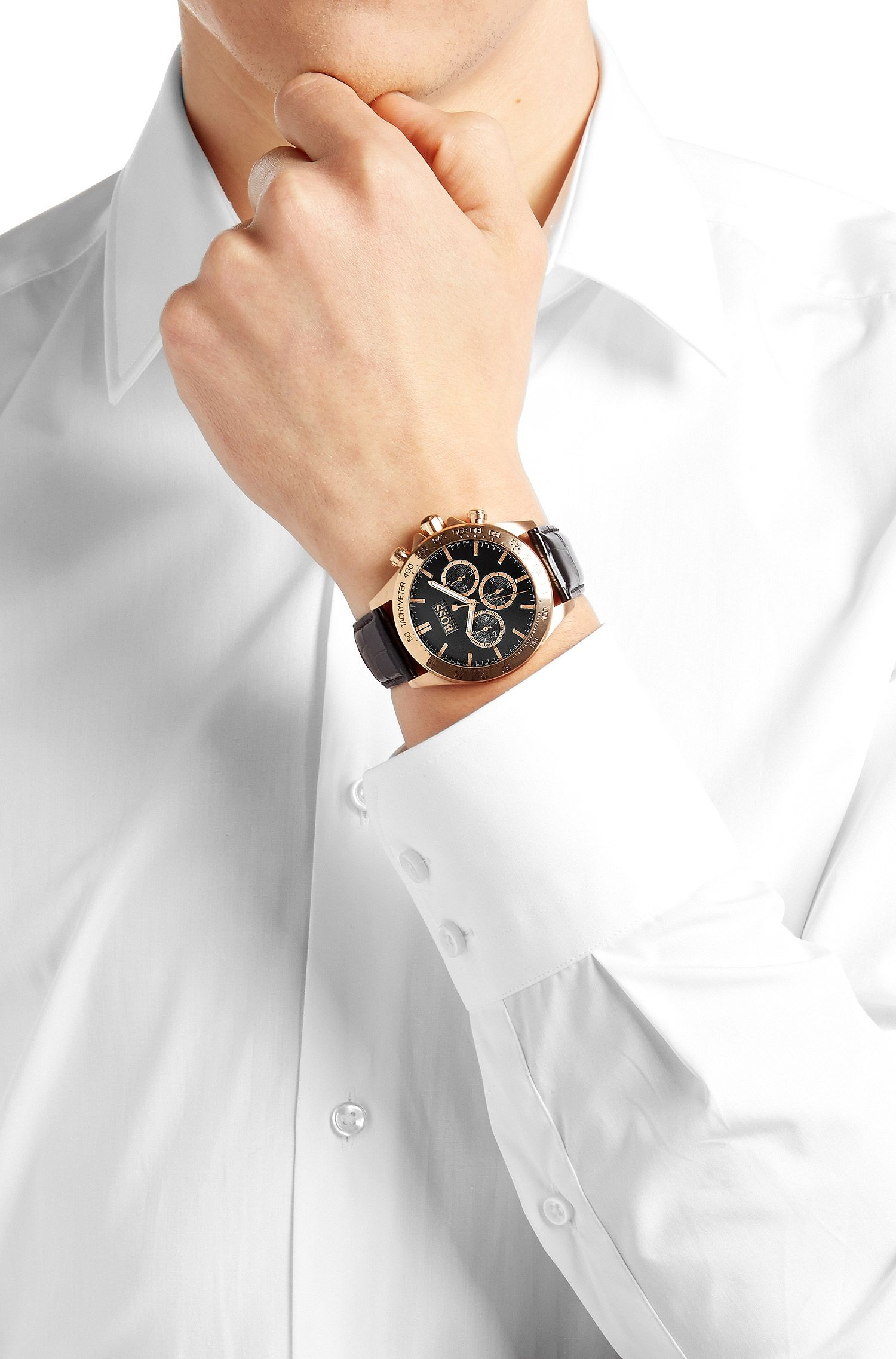 Chronograph ´HBIKON` aus kupferfarbenem Edelstahl