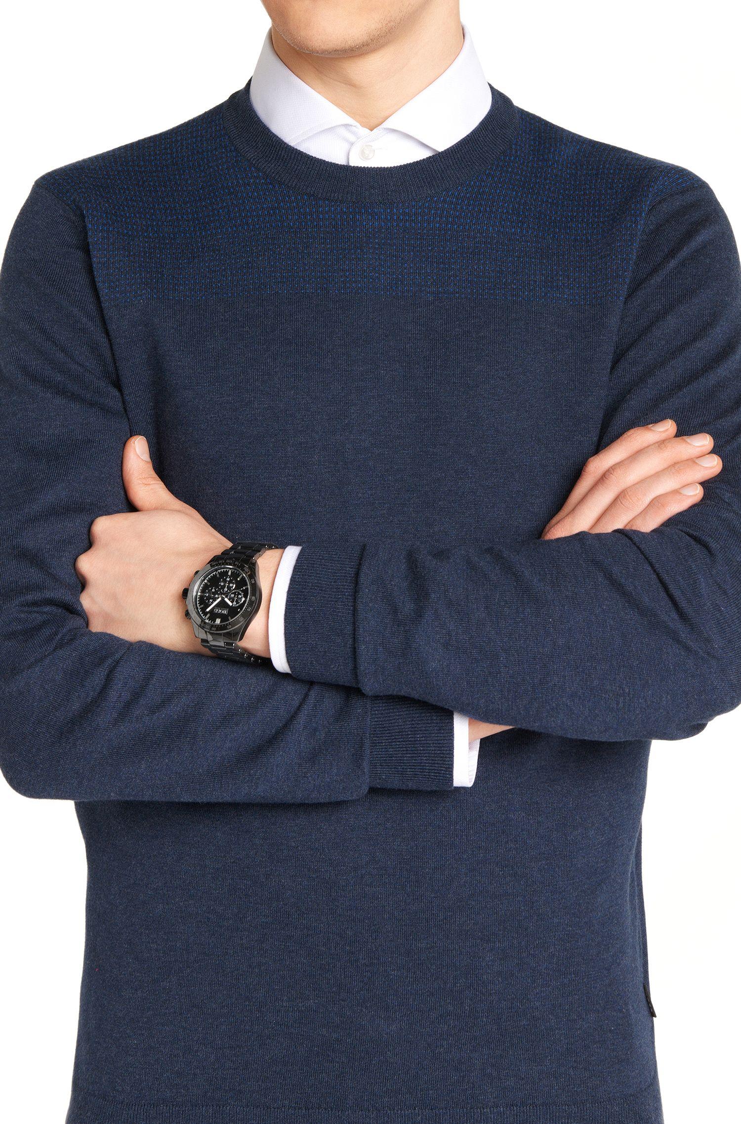 Montre chronographe avec mouvement à quartz et boîtier en céramique: «IKON»