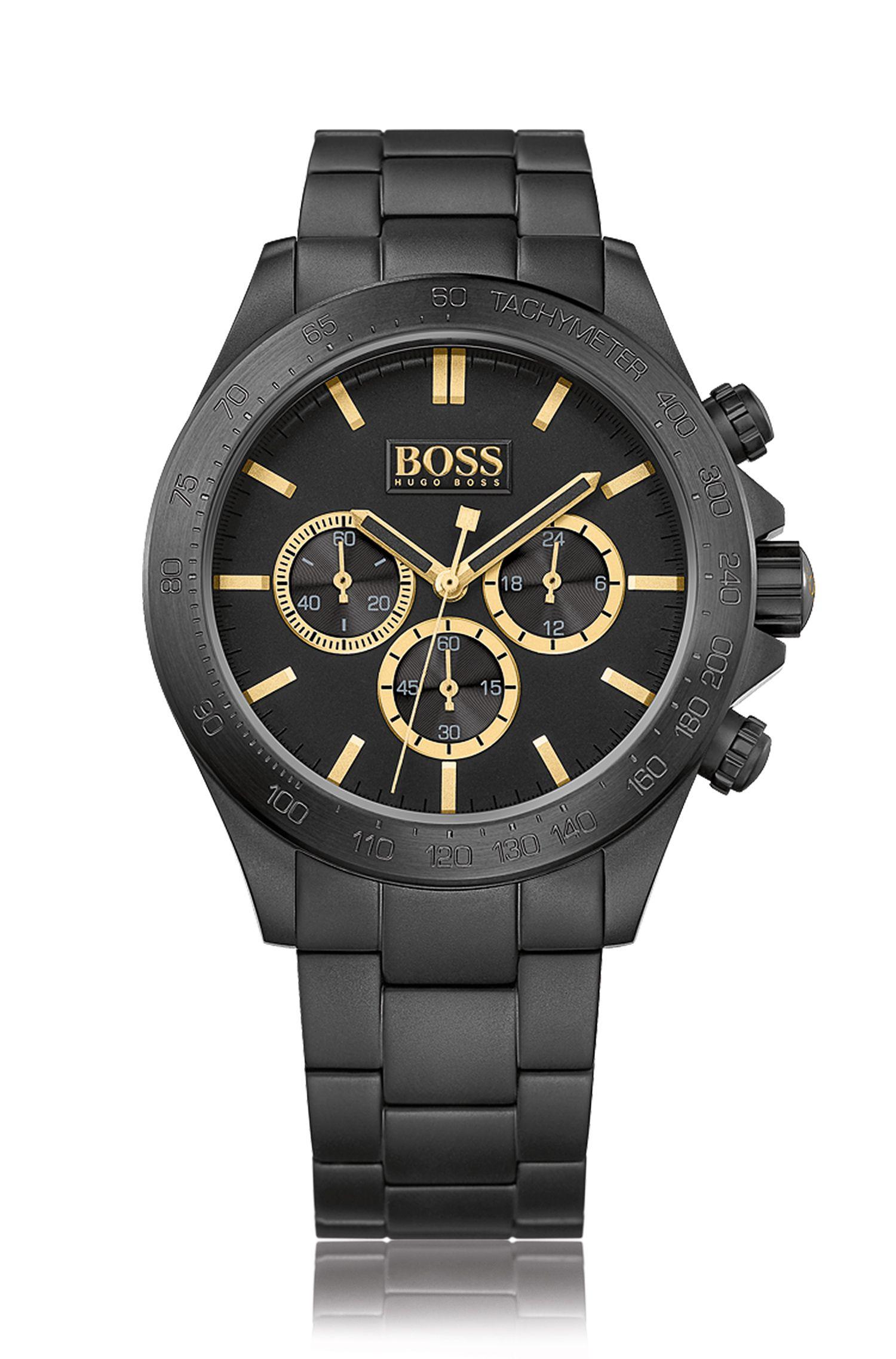 Montre chronographe en acier inoxydable avec mouvement à quartz: «HB7020»