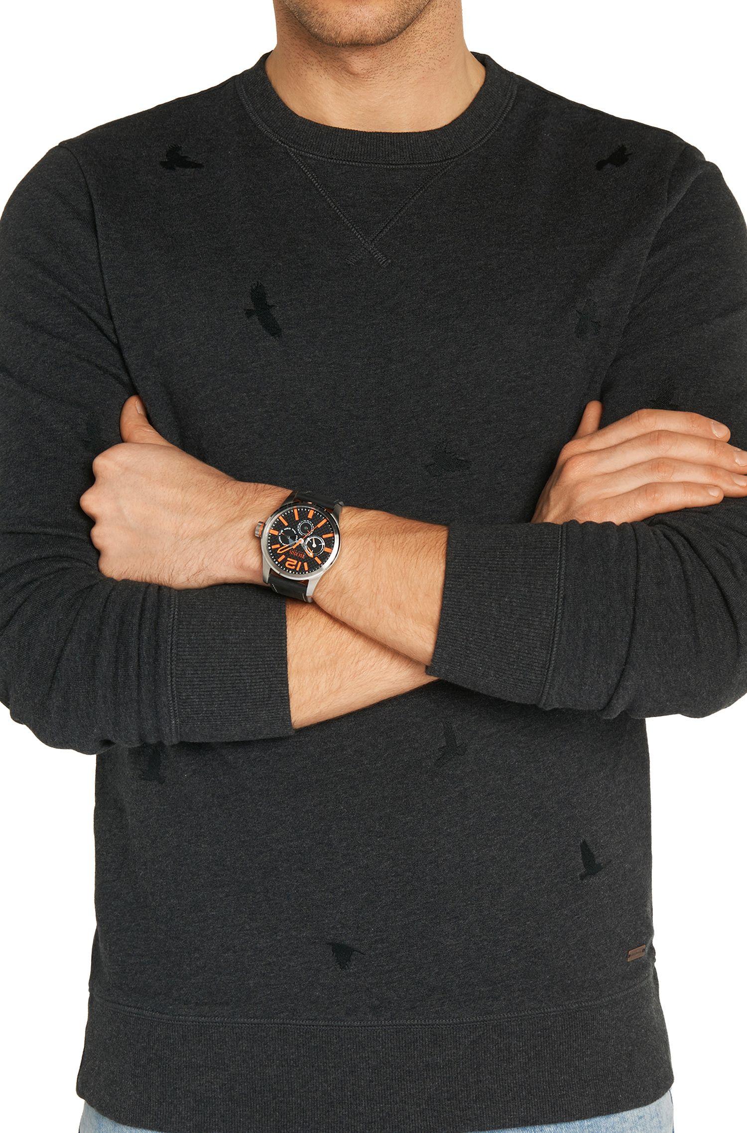 Armbanduhr mit Lederarmband: 'HO7020'