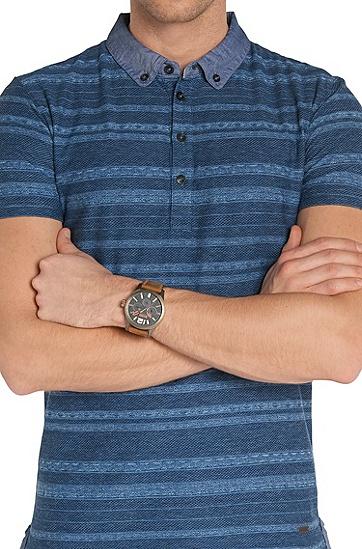 Multieye-Uhr mit Lederarmband: 'HO7020', Assorted-Pre-Pack