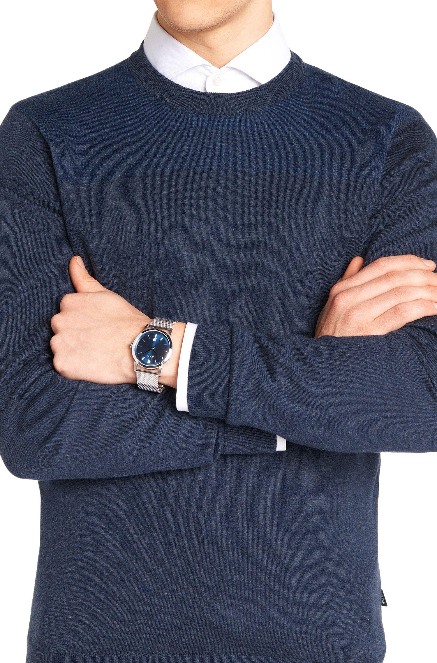 Montre-bracelet en acier inoxydable avec mouvement à quartz: «SLIUL»