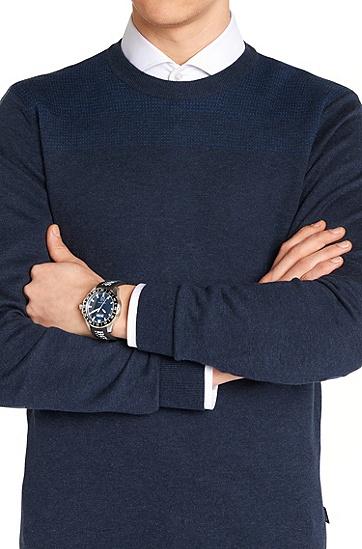 Armbanduhr mit Edelstahlgehäuse und zentraler Sekunde: 'HB2711', Assorted-Pre-Pack