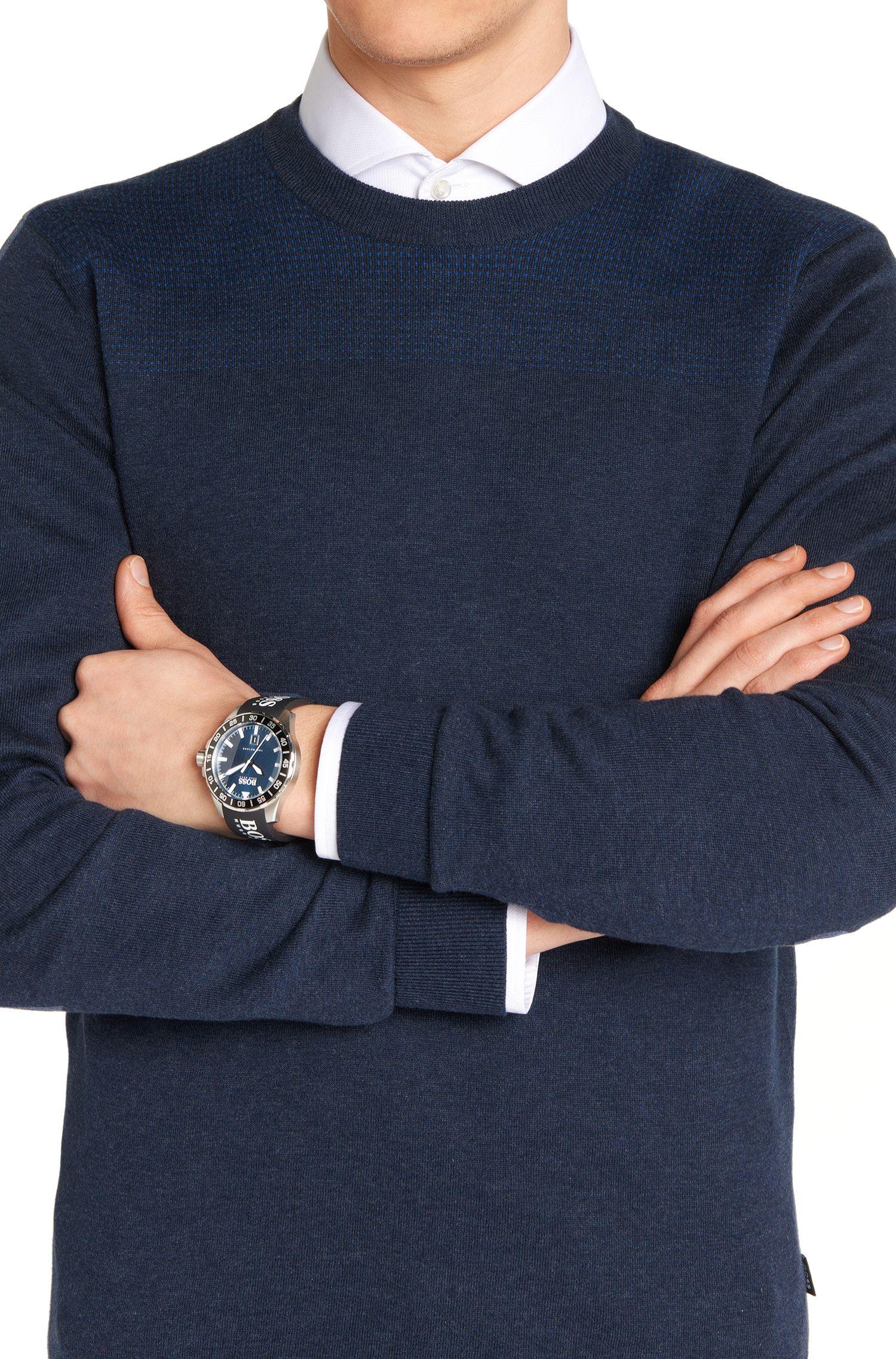 Montre-bracelet avec mouvement à quartz et boîtier en acier inoxydable: «DEEON»