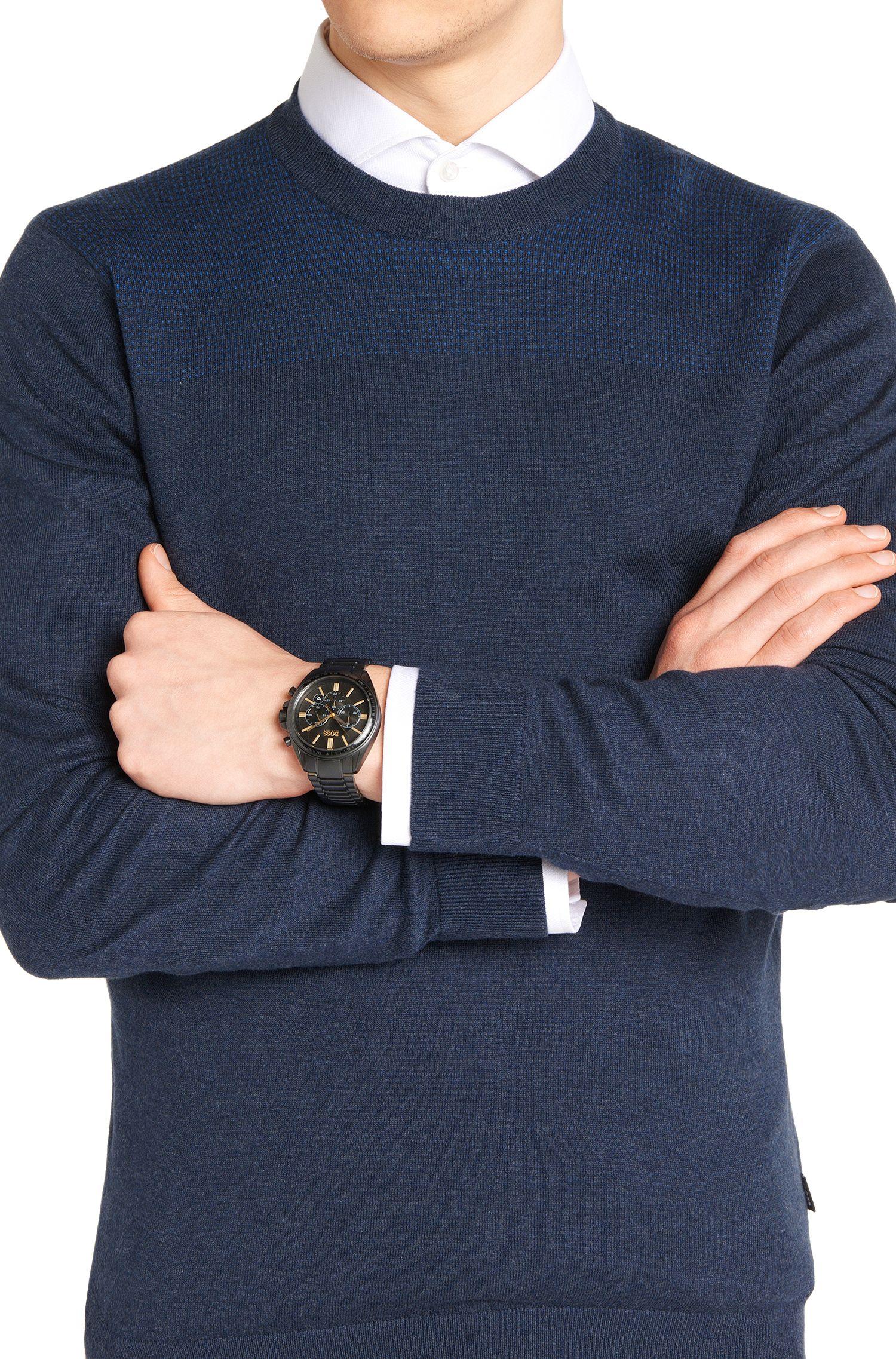 Montre chronographe en acier inoxydable avec mouvement à quartz: «DRIVR»