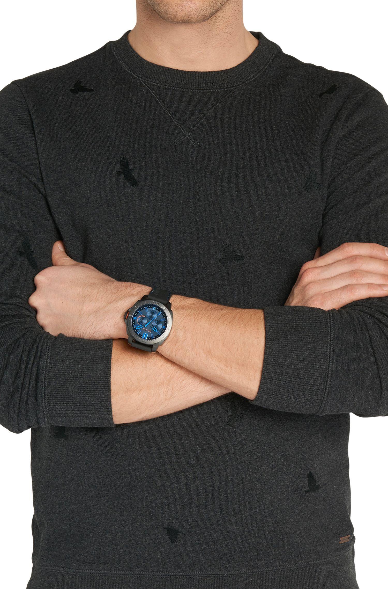 Multi-eye-horloge met gezwarte kast van roestvrij staal: 'HO7020'