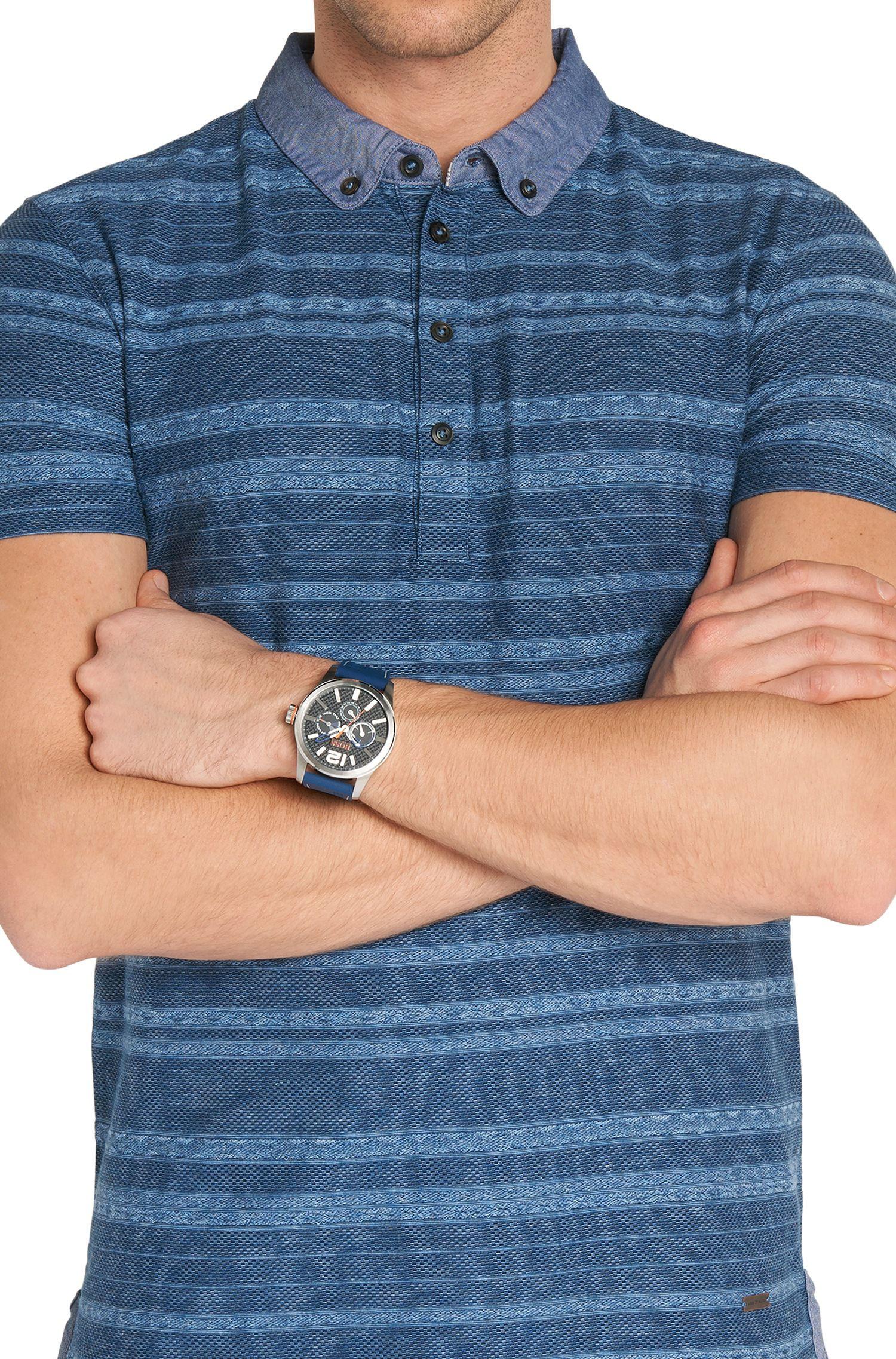 Armbanduhr mit rundem Edelstahlgehäuse: 'HOPARIS'