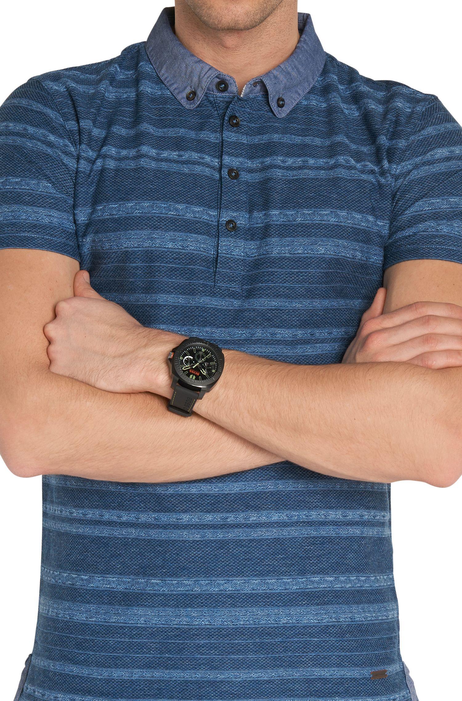 Multieye-Uhr mit geschwärztem Edelstahlgehäuse: 'HOSAOPO'