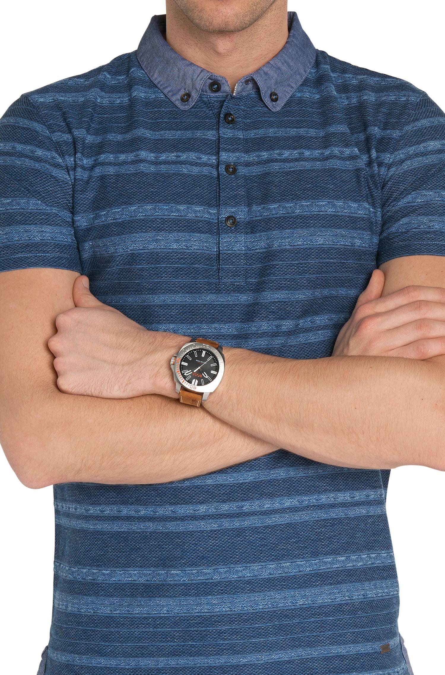 Montre à quartz dotée d'un bracelet en cuir: «HOSAOPO»