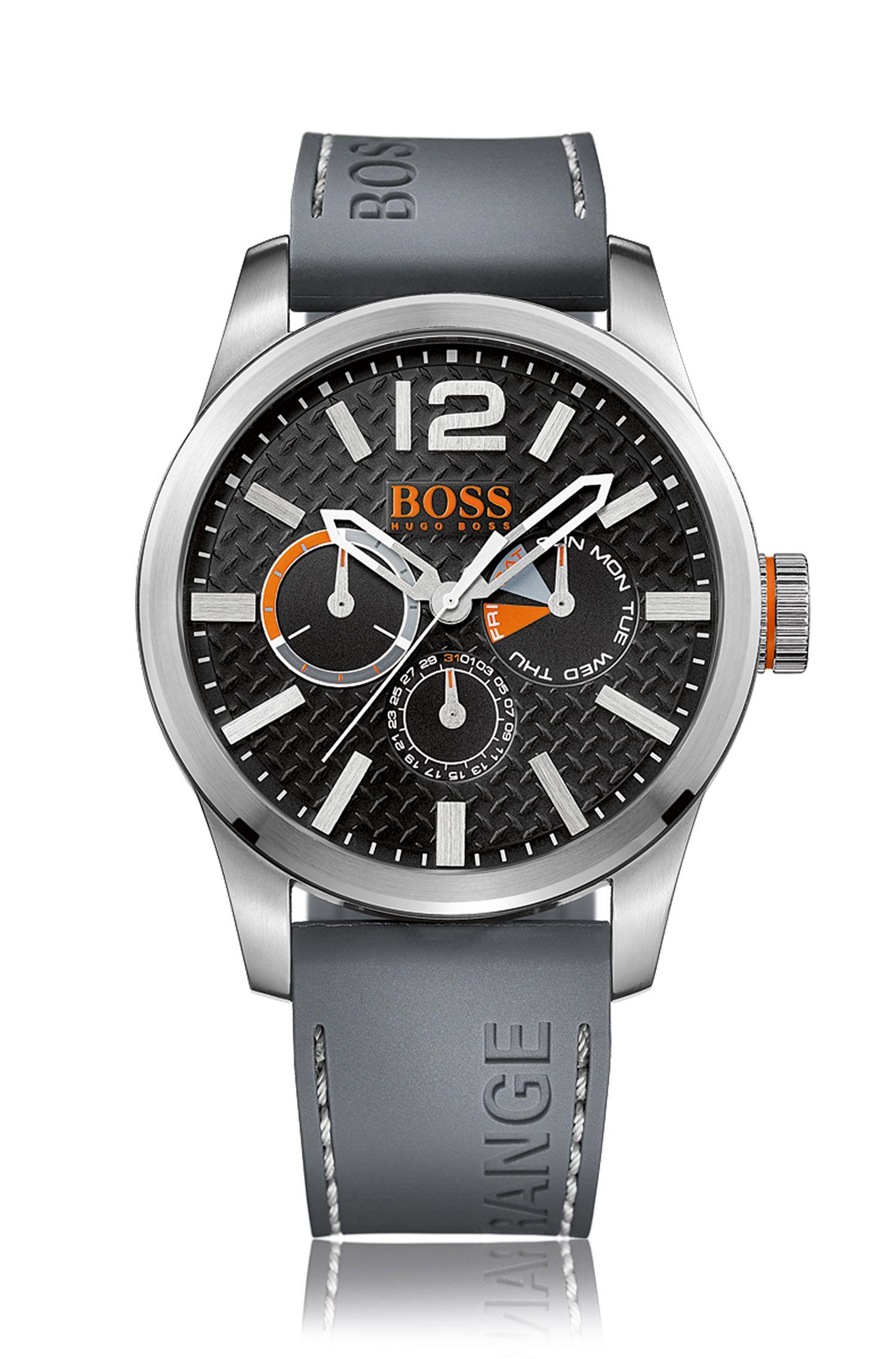Multi-eye-horloge met ronde kast van roestvrij staal: 'PARIS'