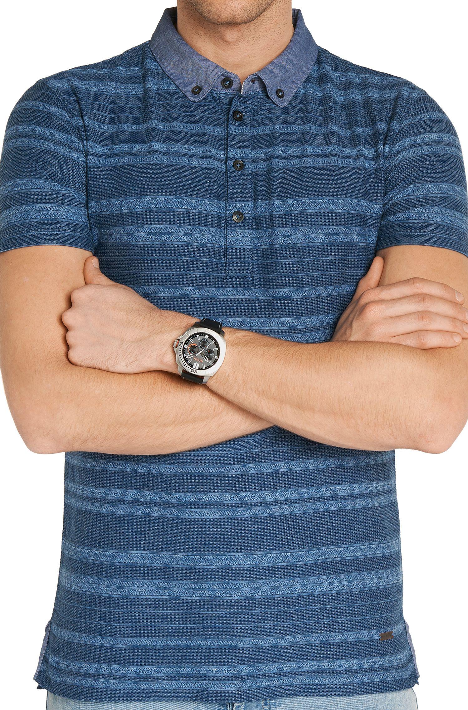 Chronographe à quartz doté d'un bracelet en cuir: «HOSAOPO»