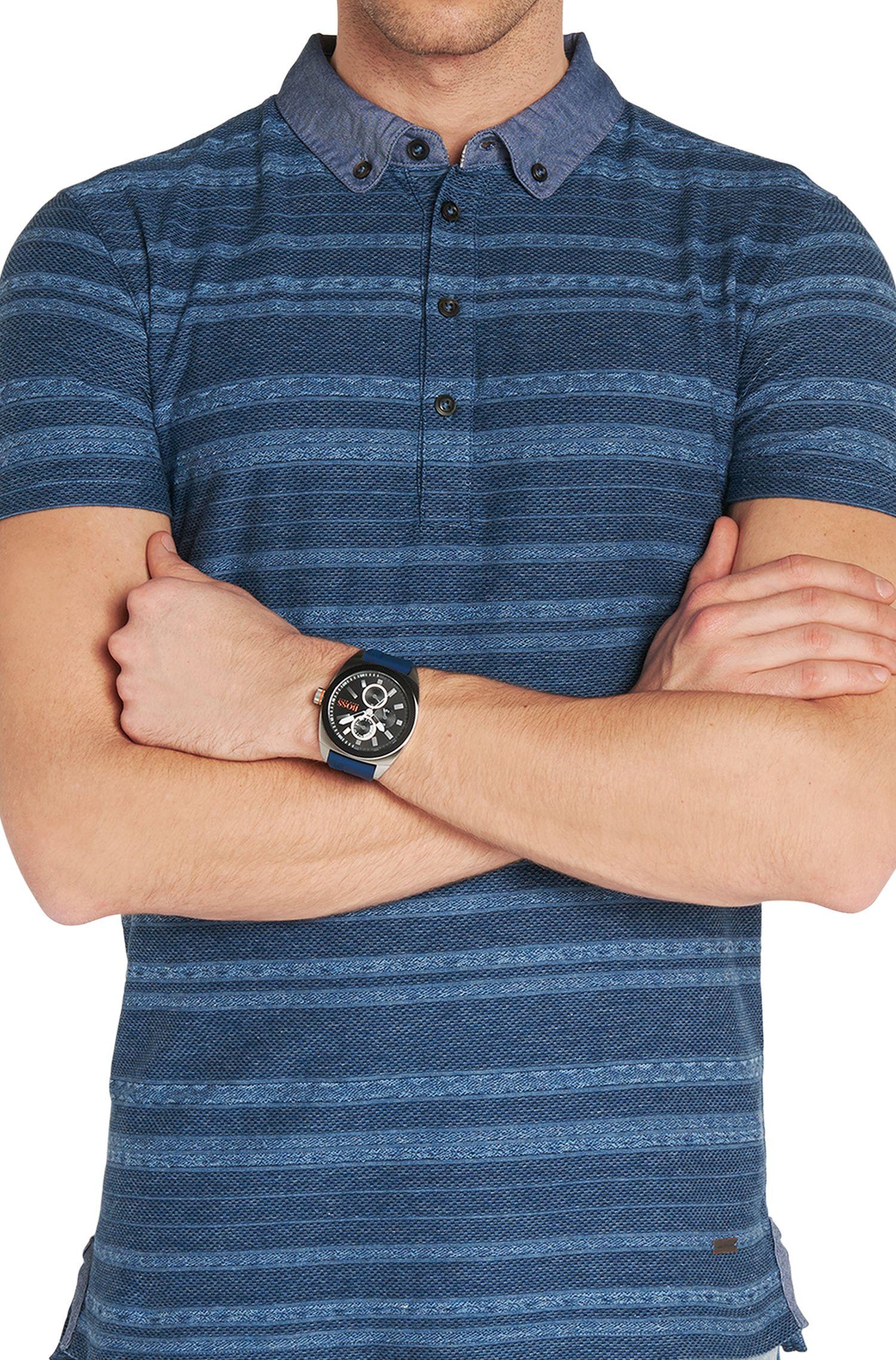 Très grande montre Multieye à boîtier en acier inox: «HOLONDN»