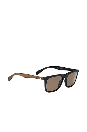 Black sunglasses with temples in real wood: 'BOSS 0776/S', Assorted-Pre-Pack