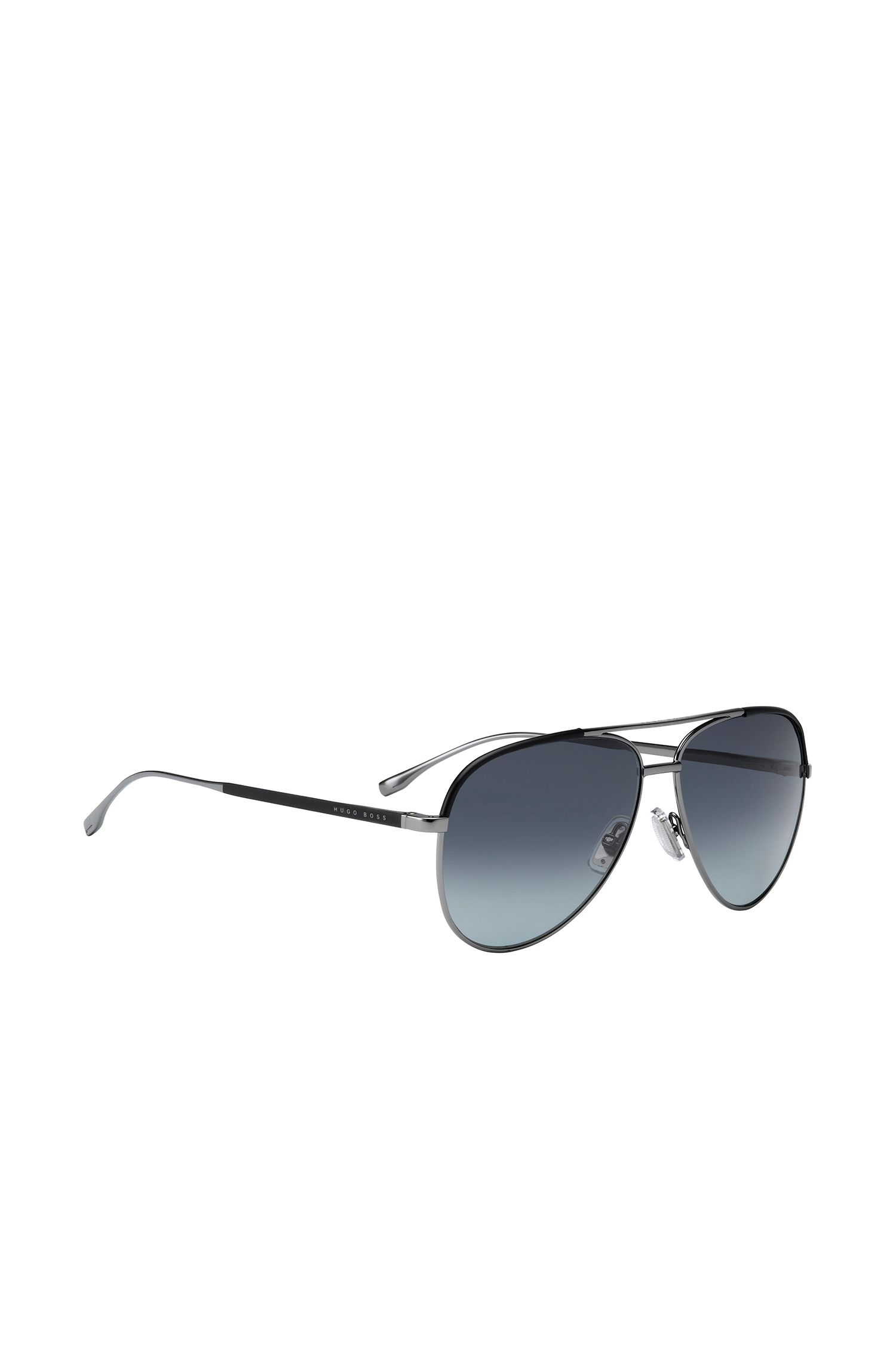 Aviator sunglasses with black metal frames: 'BOSS 0782/S'