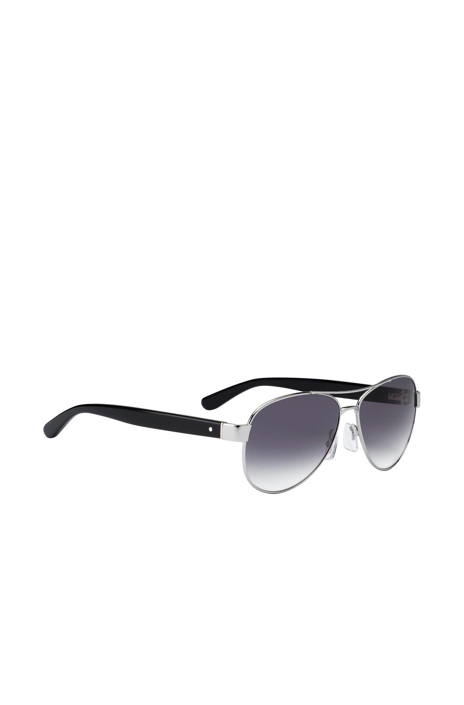 Schwarze Piloten-Sonnenbrille mit Verlaufsgläsern: 'BOSS 0788/S'