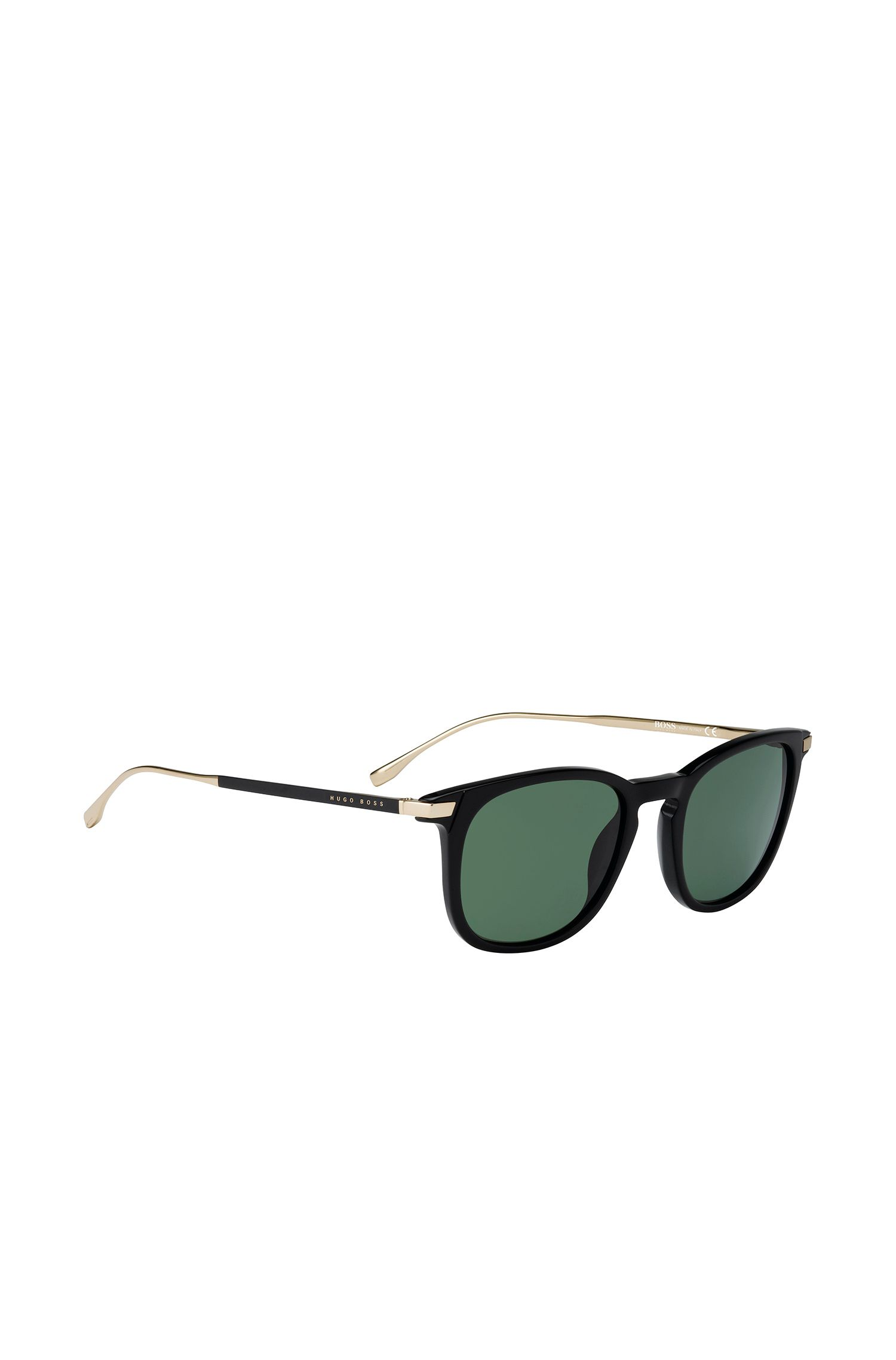 Black sunglasses with distinctive fully rimmed frames: 'BOSS 0783/S'