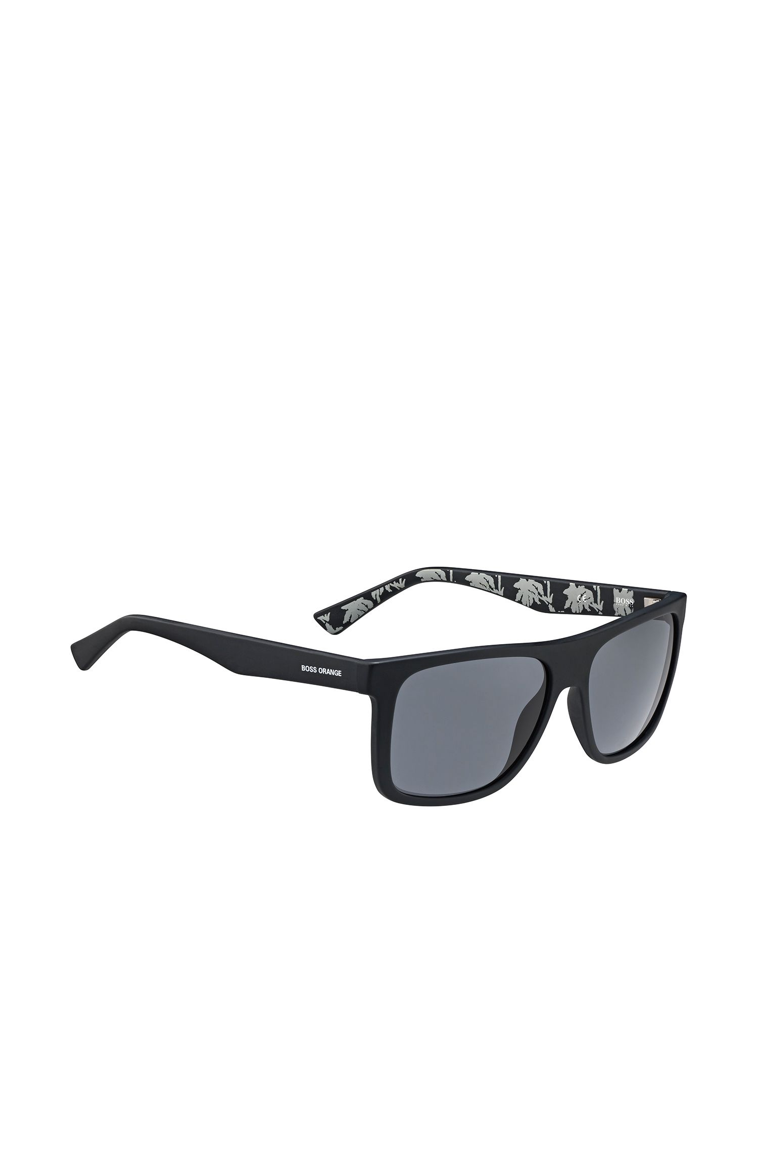Schwarze Sonnenbrille mit gemusterten Bügeln: 'BO 0235/S'