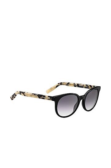 Sonnenbrille mit Verlaufsgläsern und gemusterten Bügeln: 'BO 0256/S', Assorted-Pre-Pack