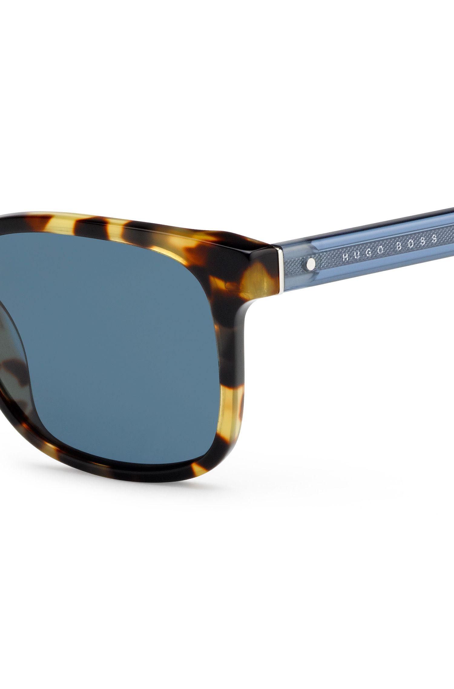 Sonnenbrille mit gemusterter Vollrandfassung: 'BOSS 0802'