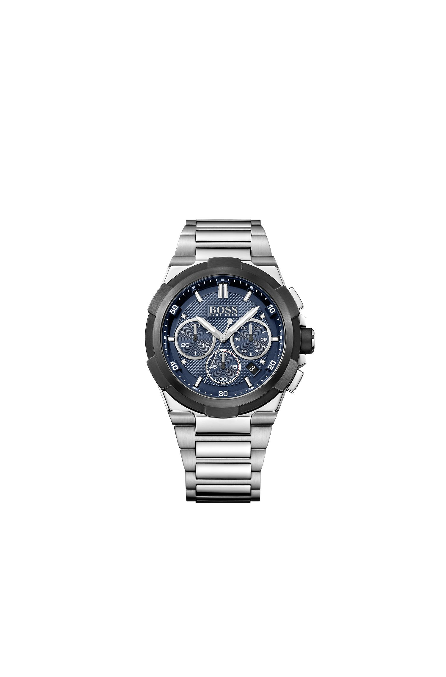 Stainless steel chronograph with night light function: 'Supernova'